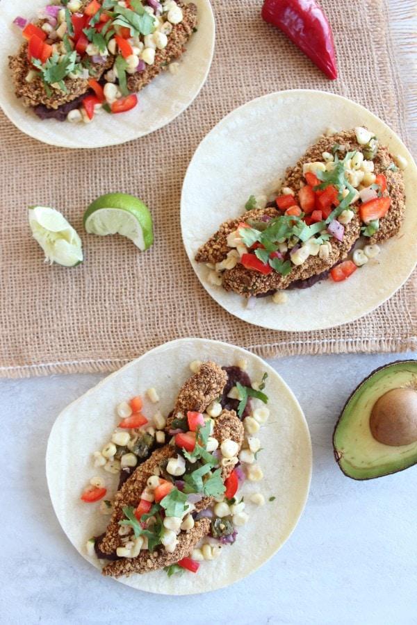 Healthy Avocado Vegetarian Tacos