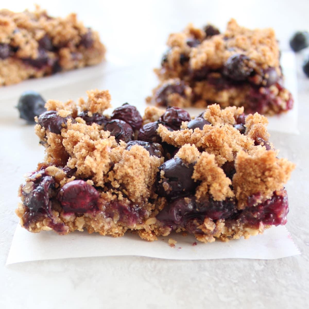 Gluten Free Blueberry Oat Bars