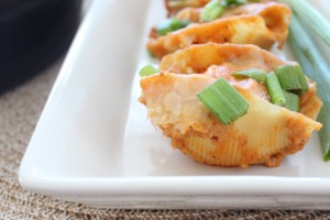 Buffalo Chicken Alfredo Stuffed Shells