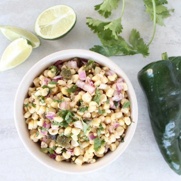 Roasted Poblano Corn Salsa