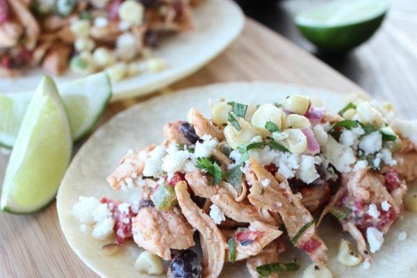 Mexican Chicken Salad Tacos