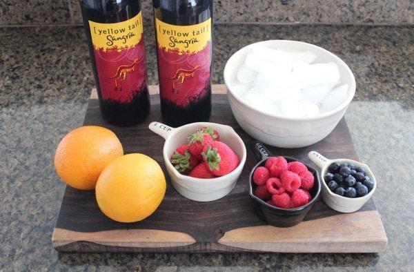 Frozen Sangria Ingredients