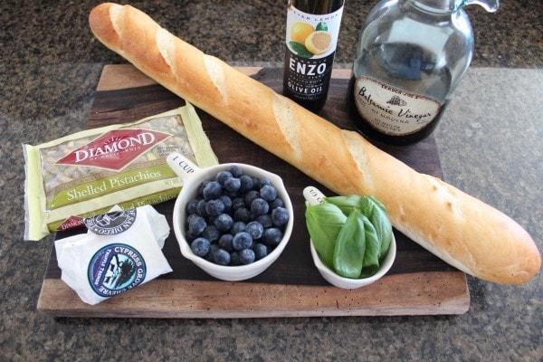 Blueberry Goat Cheese Crostini Ingredients