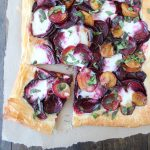 Farmers Market Beet and Burrata Tart