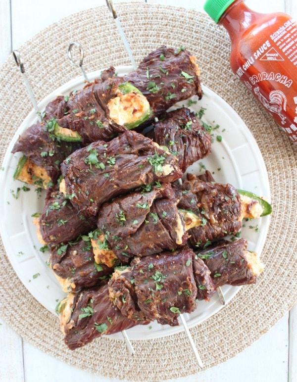 Steak Wrapped Jalapeño Skewers