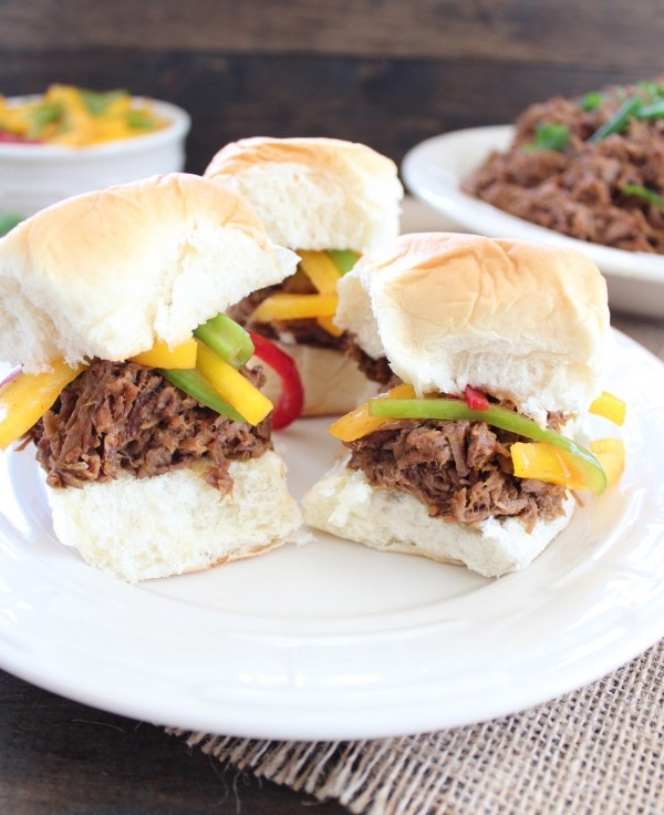 Crock Pot Thai Beef Sliders