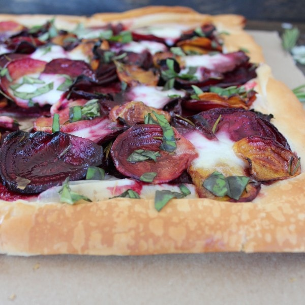 Roasted Beet and Cheese Tart