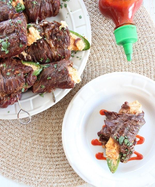 Steak Wrapped Jalapeño Popper Skewers