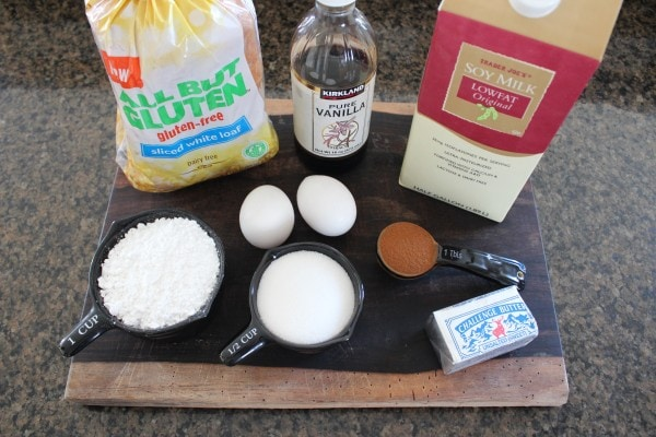 Gluten Free French Toast Cinnamon Roll Ingredients