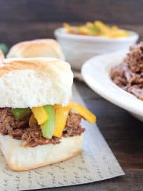 Crock Pot Thai Beef Sliders