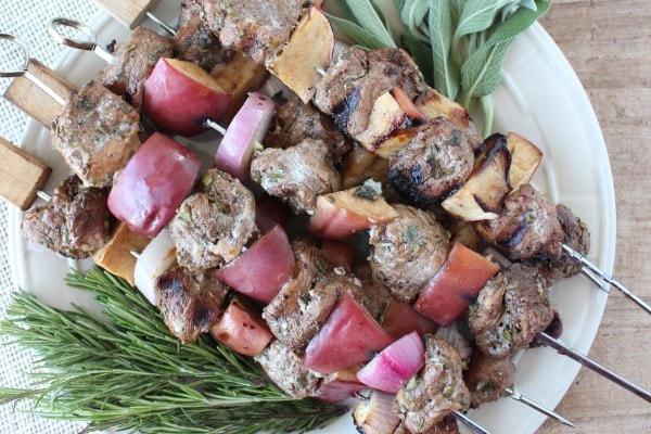 Rosemary Sage Pork Tenderloin Skewers