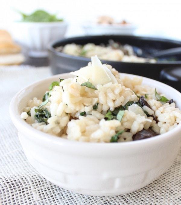 Spinach Artichoke Mushroom Risotto