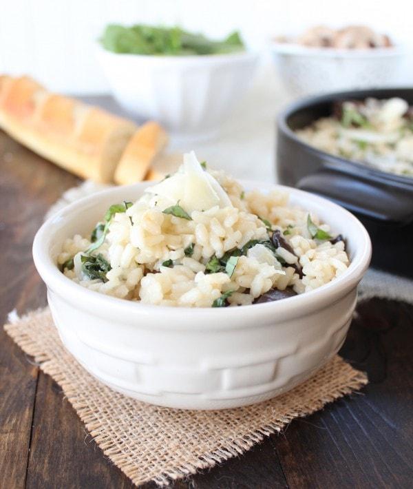 Spinach Mushroom Risotto