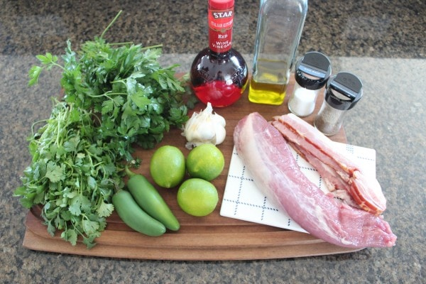 Chimichurri Pork Tenderloin Ingredients