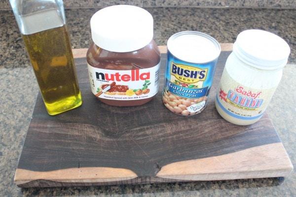 Nutella Hummus Ingredients