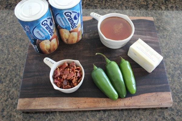 Bacon Jalapeño Honey Monkey Bread Ingredients