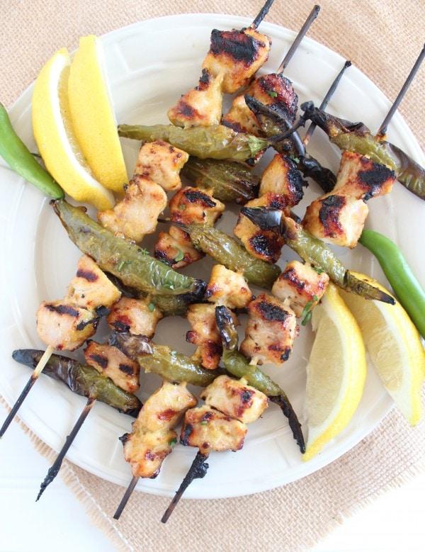 Grilled Jalapeño Honey Chicken Skewers