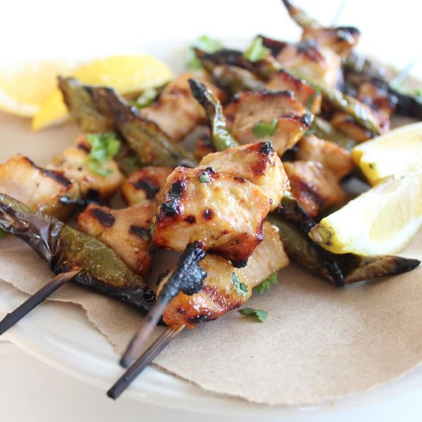 Grilled Honey Chicken Skewers
