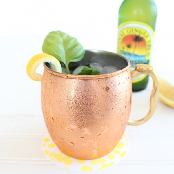 peach basil moscow mule. Black Bedroom Furniture Sets. Home Design Ideas