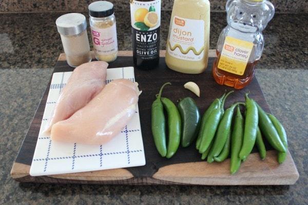 Roasted Jalapeño Honey Chicken Skewer Ingredients
