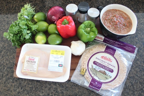 Crock Pot Chicken Fajita Tortilla Lasagna Ingredients