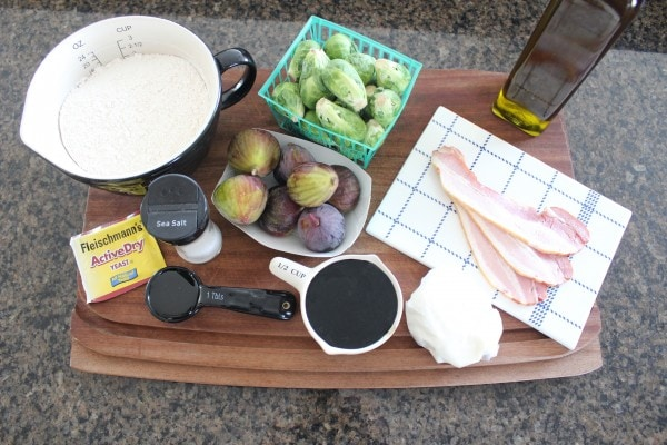 Honey Fig Bacon Brussel Sprouts Pizza Ingredients