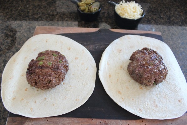 Tortilla Wrapped Jalapeño Cheeseburger Recipe