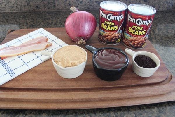 Brown Sugar Coffee Baked Beans Ingredients