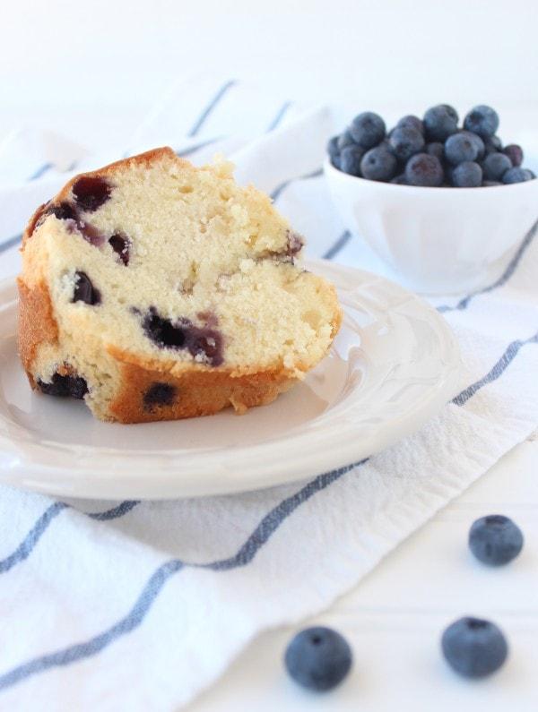 Blueberry Almond Pound Cake