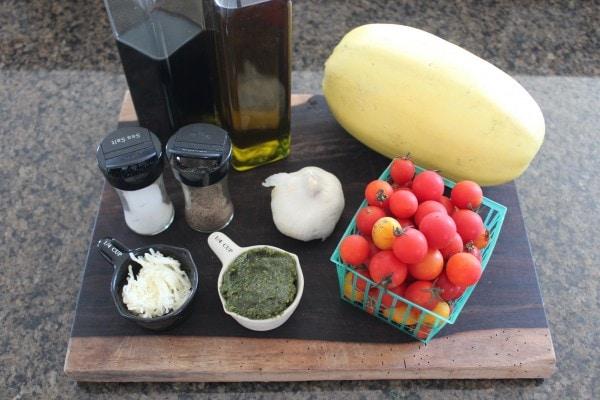 Spaghetti Squash Caprese Ingredients
