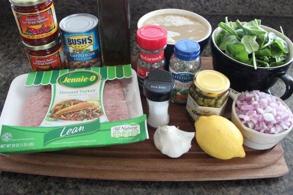 Healthy Greek Turkey Soup Ingredients