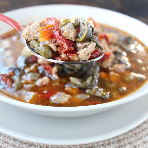 Crock Pot Greek Turkey Soup