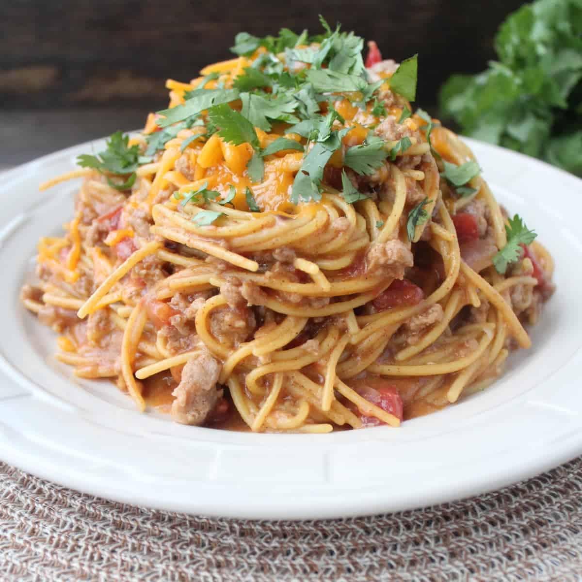 Gluten Free Taco Spaghetti