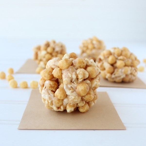 Gluten Free Peanut Butter Popcorn Balls