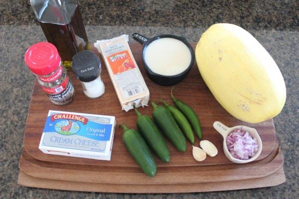 Jalapeño Popper Spaghetti Squash Ingredients