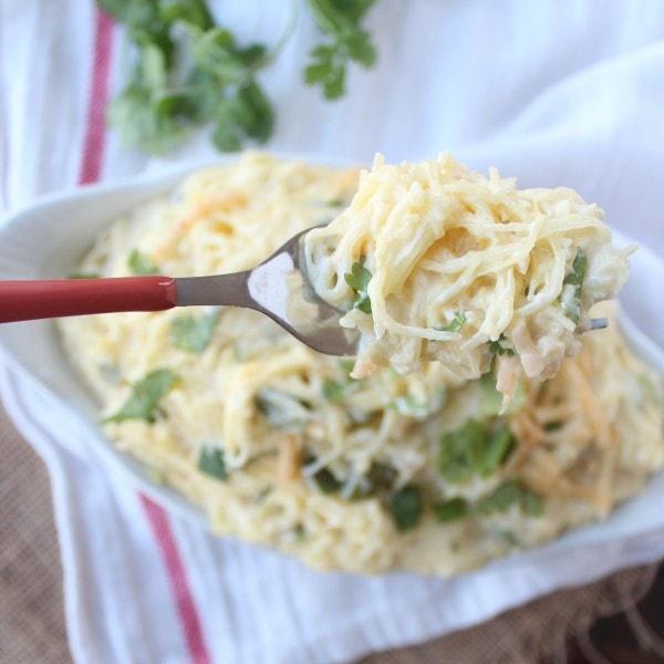 Cheesy Jalapeño Popper Spaghetti Squash
