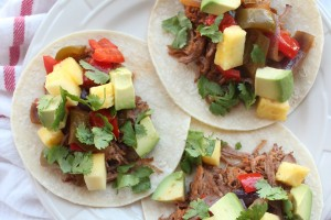 Slow Cooked Pineapple Sriracha Tri Tip Tacos