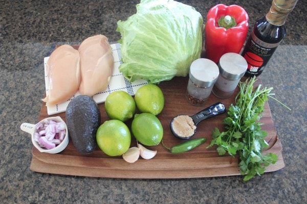 Chili Lime Chicken Taco Lettuce Cup Ingredients