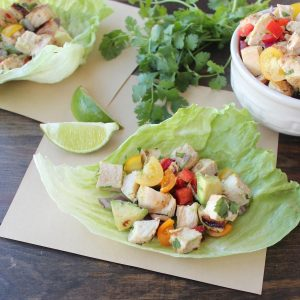 Chili Lime Chicken Taco Lettuce Cups