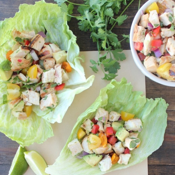 Lettuce Wrapped Chili Lime Chicken Tacos