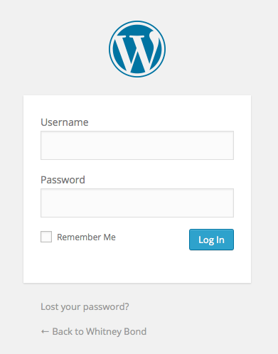 Wordpress.org Login Screenshot