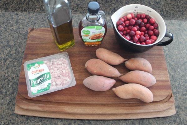 Cranberry Pancetta Sweet Potato Skins Ingredients