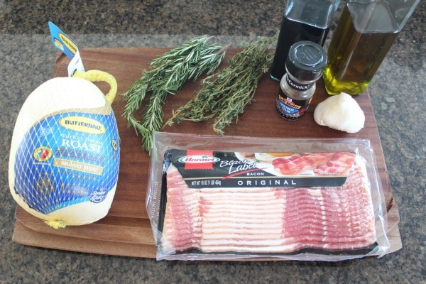 Bacon Wrapped Turkey Breast Ingredients