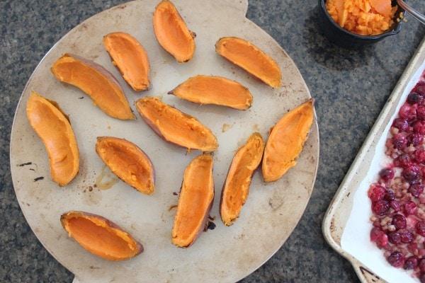 Roasted Cranberry Pancetta Sweet Potato Skins Recipe