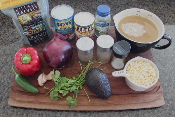 One Pot Vegan Mexican Freekeh Ingredients