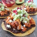 Turkey Tostadas with Pomegranate Guacamole