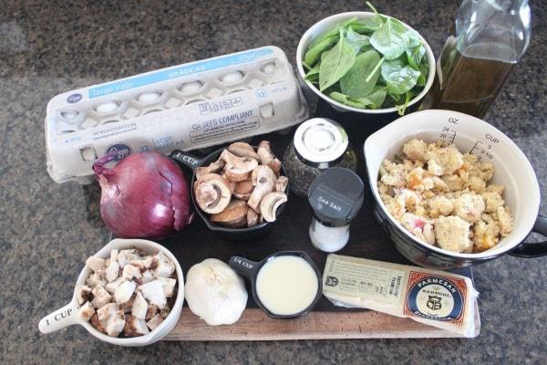 Mushroom Turkey Quiche Ingredients