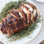 Garlic Herb Bacon Wrapped Turkey Breast