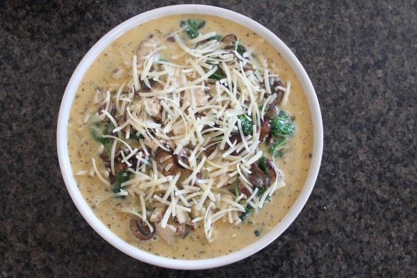 Spinach Mushroom Turkey Quiche Recipe