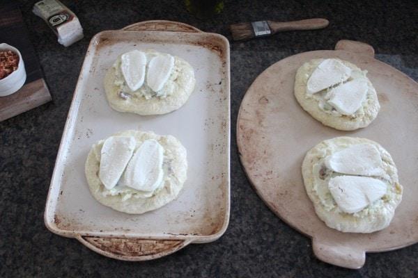 Mashed Potato & Mozzarella Mini Pizzas